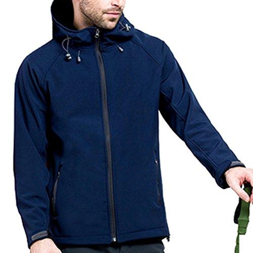 Hooded Winter Sport Zhuhaitf Men Coat Bello Soft Navy Outdoor Windproof Blue Shell YwYqF487