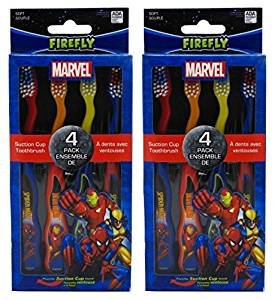 Price comparison product image Dr. Fresh Marvel Heroes Standing Toothbrush, 4 Count(Pack of 2) Total 8 Toothbrushes