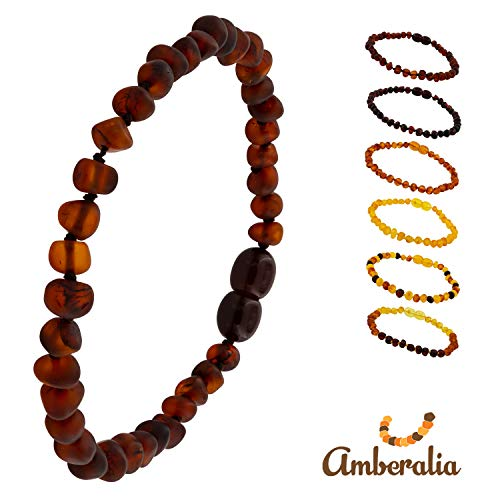 - Connene Baltic Amber Bracelet/Anklet Adults Unisex, Pain Relieve (Raw Chocolate, 9.8)