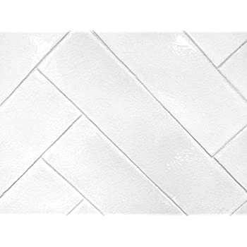3x12 Handmade In Spain Glossy Finish White Crackled