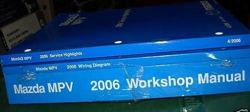 2006 mazda mpv van service shop repair manual set 3 vol workshop rh amazon com Mazda MPV Models Mazda MPV Models