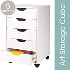 Not just a craft storage box, the Ashland 5 Drawer Letterpress Cube is designed to keep you organized and provides endless storage possibilities. It's ideal as an art storage box, but can also be utilized for office, school or home org...