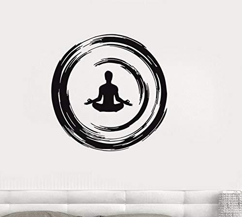 Dalxsh Yoga Buddhist Meditation Wall Decal Enso Circle