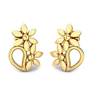 bda217fa8c55a Candere By Kalyan Jewellers 22k (916) Yellow Gold Fiona Stud Earrings for  Women