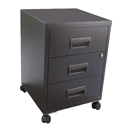 Pierre Henry 95221 - Filing Cabinet with 3 Drawers, Grey