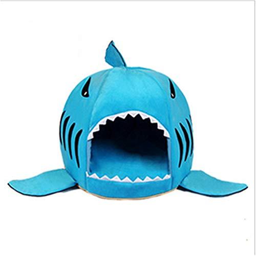 HUIFANG De Dibujos Animados Mascota Gato Camada Cama Perrito Perrera Cuatro Temporadas Tiburón General Nido Perro Gruesa...