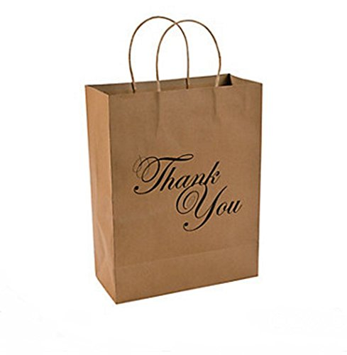 Thank You Kraft Bags Dozen
