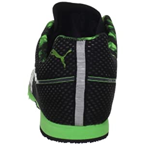Puma Bolt Evospeed Mid Dist Track Shoe,Black/Fluorescent Green,10 D US