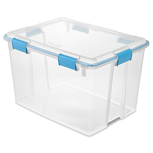 Sterilite Liter Gasket Lid Blue Aquarium Latches Gasket,