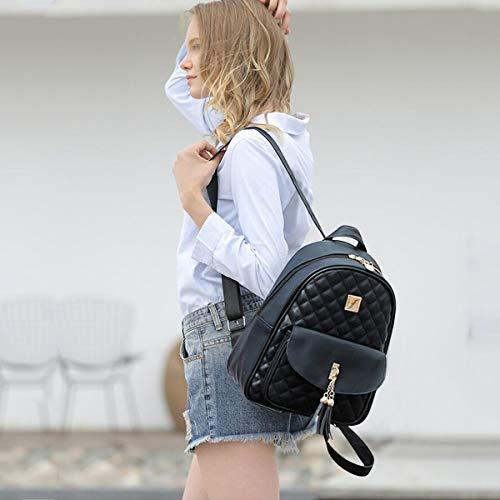 Main Balck Noir D'école Fille Sac amp; Plaid Femmes À 3pcs Fashion Nicole Doris Sacs Dos Nouvelles 8OwOF