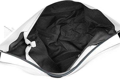 Tasche damen schulter PIERRE CARDIN weiß ffnung zip VN1225