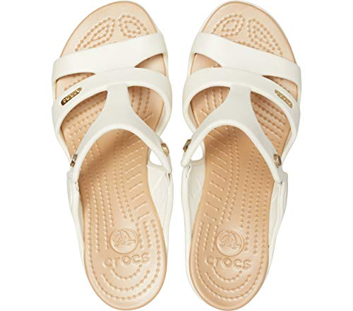 oyster White Toe gold Crocs Women Open Heel V Pumps 13s Cyprus Znx84