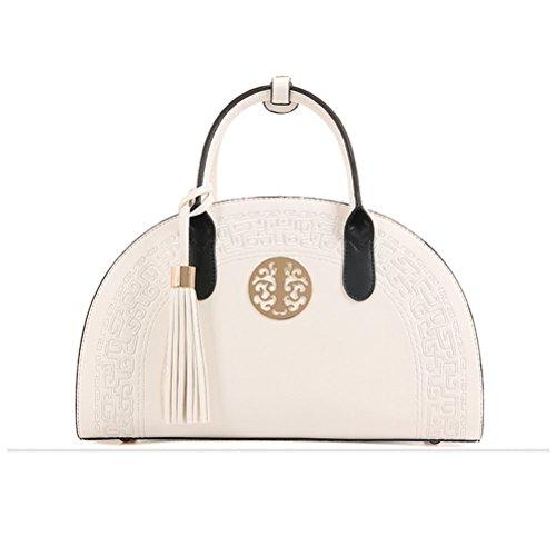PU Femme Blanc a Style Honeymall Cuir Rouge Bandouliere Sac main Sac chinois de a la q44Tzg