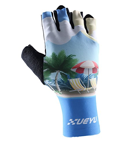 Timeiya New Fashion Cycling Gloves With Shock-Absorbing Breathablle Glove Half Fingers