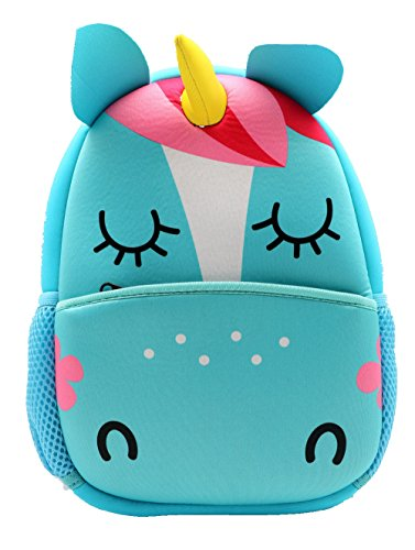 castle story Neoprene Cartoon Animal Series Schoolbag for Little Kid Toddler Preschool Insulated Water-Resistant Lunch Bag Backpack (unicorn)