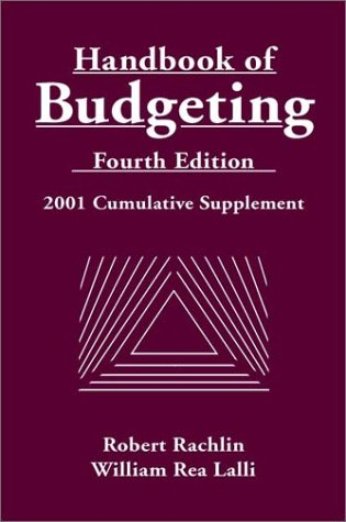 Handbook of Budgeting, Fourth Edition 2001 Cumulative Supplement
