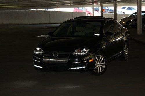 2005-2010 VW JETTA GOLF GTI RABBIT MKV MK5 R8 DRL LED PROJECTOR BLACK HEADLIGHTS - Buy Online in ...