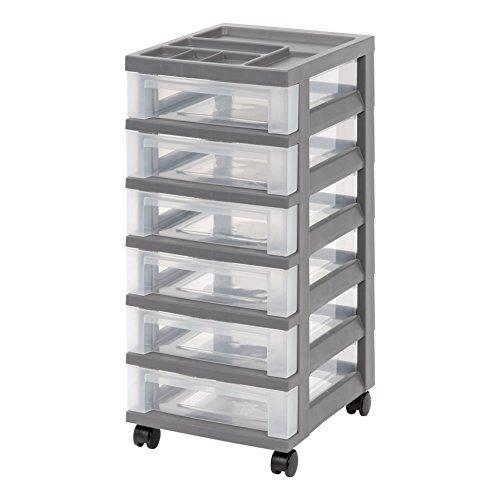 6 drawer storage cart - 2