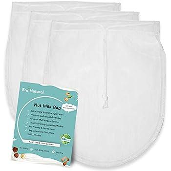 Amazon.com: Bolsas reutilizables para leche de nueces, 3 ...