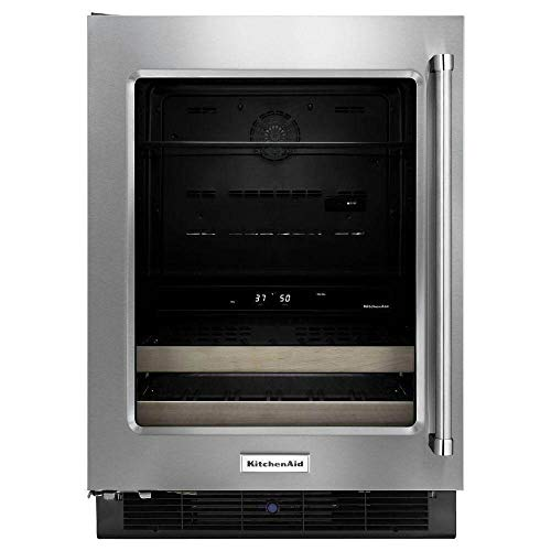- KitchenAid KUBL204EPA 24 in. 14-Bottle Wine Cooler and Beverage Center