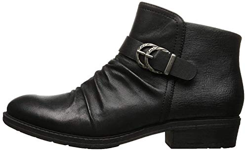 BareTraps Womens Ysidora Almond Toe Ankle Fashion, Black Microfib, Size 9.5 (Bare Traps Ankle Boots Women)