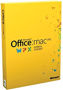 Office Mac Home & Student 2011 - 1MAC/1User (Disc Version)
