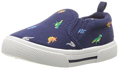 carter's Boys' Damon Casual Slip-On Sneaker, Navy, 10 M US Toddler