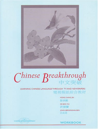 Chinese Breakthrough: Learning Chinese Language through TV and Newspapers (Workbook) (C & T Language Series) (English and Chinese Edition)