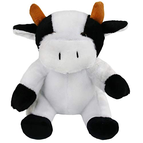 Bstaofy Dairy Cow Stuffed Animals Plush Toy Milk Cattle Cuddly Huggable Gift for Kids on Christmas Birthday Halloween Festival Occasions, 9