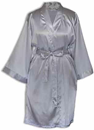 d7bb80b34f TowelBathrobe Women s Kimono Satin Robe Satin Lounge Bridesmaids Short Robe