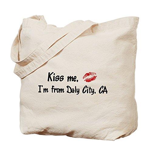 CafePress - Kiss Me: Daly City - Natural Canvas Tote Bag, Cloth Shopping - City Daly Shopping