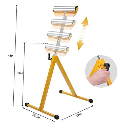 EVELIN Folding Roller Stand New Metal Adjustable Folding Roller Stand 132 lbs Capacity - EB45