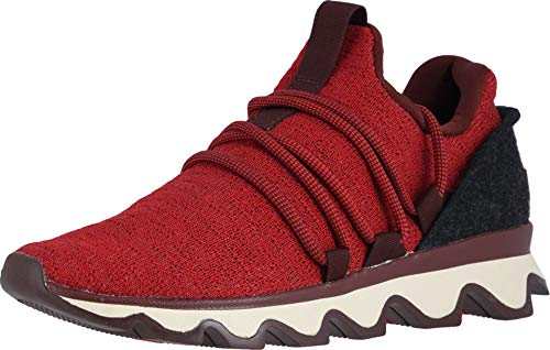 Sorel - Women's Kinetic Lace Casual Knit Sneakers, Gradient-Mountain Red, 6.5 M US
