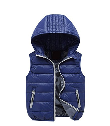 Hooded Jacket Lemonkids;® Kids Chic Wadded Navy Lightweight Children Winter Vest qwtBR8