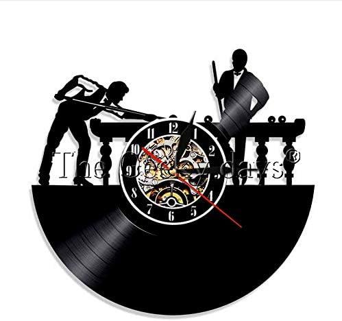 XZXMINGY Billar Reloj de Pared con Registro de Vinilo 3D Mesa de ...