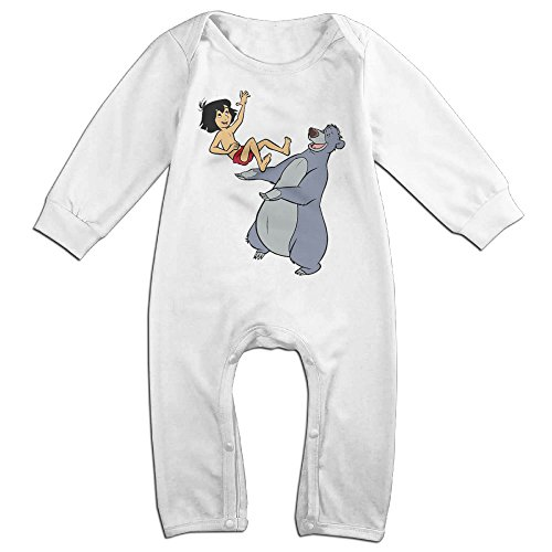 [OLGB Newborn Jungle Book Play Long Sleeve Bodysuit Outfits 12 Months] (The Jungle Book Baloo Costume)