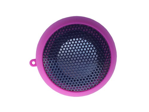 iShoppingdeals - for Sandisk Sansa Clip Zip / Sport / Jam MP3 Player Rechargeable Mini Stereo Speaker, Hot Pink (Sansa Accessory)