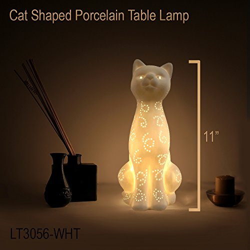 Simple Designs Lt3056 Wht White Porcelain Animal Shaped