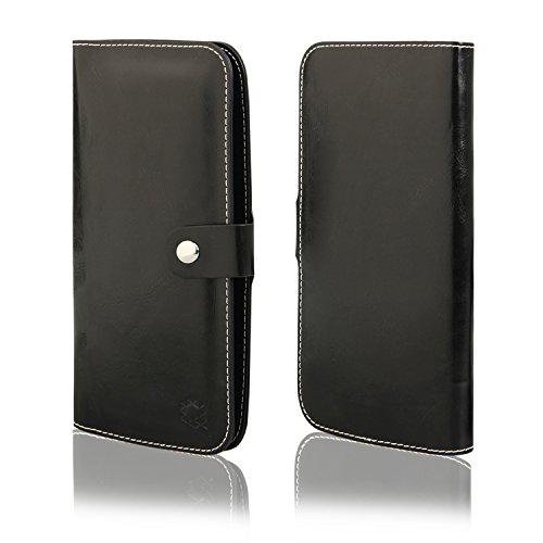 HQ Buch Tasche SCHWARZ Klapp Schutz Hülle Wallet Flip Case Etui für Apple Iphone X