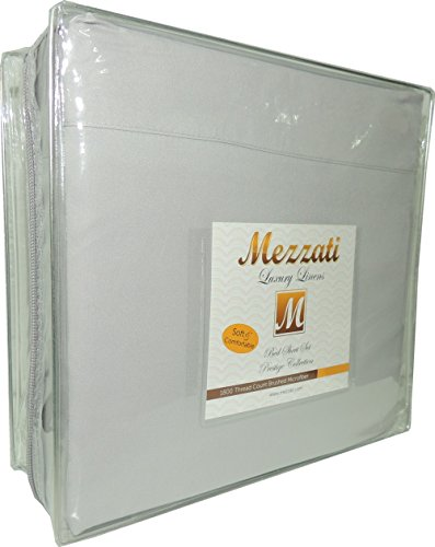 Mezzati Luxury Bed Sheets Set - Sale - Best, Softest, Coziest Sheets Ever! - High Quality 1800 Prestige Collection