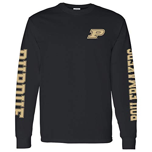 UGP Campus Apparel AL1120 - Purdue Boilermakers Double Sleeve Print Long Sleeve - Large - - Mens Apparel Promotional