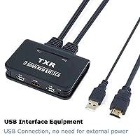 VAKABOX 2-Port USB + HDMI KVM Switch with Cables for Windows, Mac OSX, Linux, Netware, Unix PCs …
