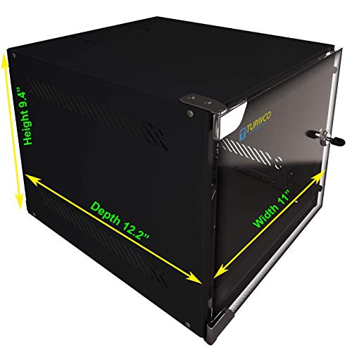 Portable Network 4U -Tupavco TP1524- Floor/Wall Compact Ten Inch CCTV Media Server Rackmount Door