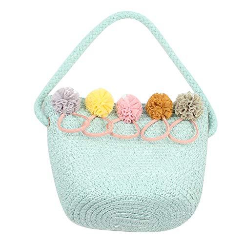 EUBUY Straw Bag Girl Rattan Woven Shoulder Handbag Summer Beach Crossbody Bag Green