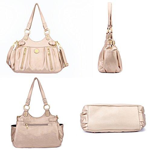 Shoulder Messenger Handbags Purse Tote Leather Designer Top Bags Ladies Bags Satchel Pearl Handle Gold Women x1BPXqx