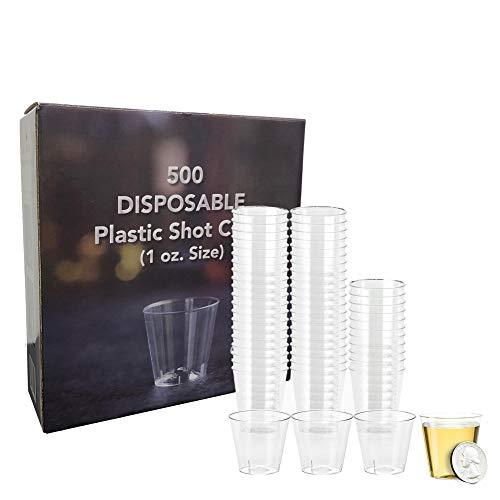 Select Settings [500 pc.] Disposable Plastic Shot Glasses (Size 1 oz.) Great for Jello shots
