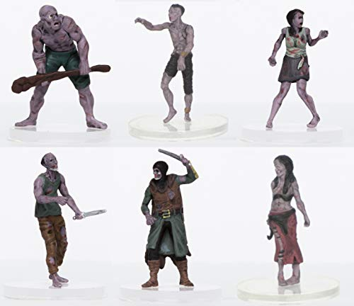 (Characters of Adventure - Zombies Party of 6 - Plastic Miniatures for D&D or Pathfinder)