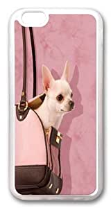 Handbag Chihuahua Hard Silicone Case Cover for iPhone 6 Transparent