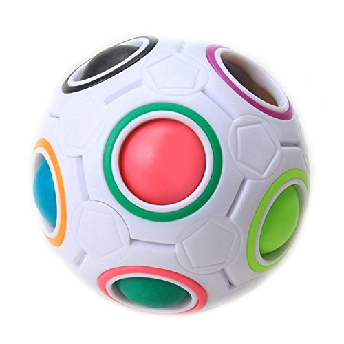 Creative spherical magic cube speed rainbow ball football puzzle baby kids education learning (Sugar Cube Halloween Costume)