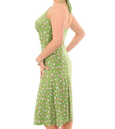 Kleid Banana Neckholder Grün Gänseblümchendruck Blue q8fZ1xx